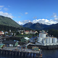 Sitka From The Waterfront Showing The Three Sisters In The Back 2015 by California Views Archives Mr Pat Hathaway Archives