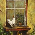 Sittin Chickens by Nadia Bindr