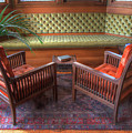 Sitting Area At Frank Lloyd Wright Home And Studio by Ann Higgens