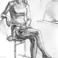 Sitting Ballerina by Natoly Art