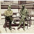 Sitting Next To A Statue Of Jan Karski Legendary Polish Underground Courier    by Jim Fitzpatrick