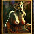 Sitting Nude by Gideon Cohn