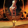 Sitting Nude In Glass by Shirley Anderson