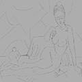 Sitting Nude by Santanu Karmakar