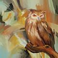 Sitting Owl by Gull G
