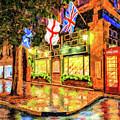 Six Pence Pub - Savannah In The Rain by Mark Tisdale