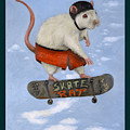 Skate Rat With Lettering by Leah Saulnier The Painting Maniac