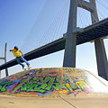Skate Under Bridge by Carlos Caetano