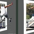 Skateboarder - Gently Cross Your Eyes And Focus On The Middle Image by Brian Wallace