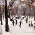 Skaters In The Tiergarten, Berlin by Max Liebermann