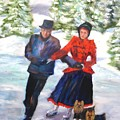 Skating In The Park  by Claiborne Hemphill-Trinklein