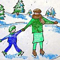 Skating With Mom by Janet Lavida