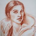 Sketch In Conte Crayon by Asha Sudhaker Shenoy