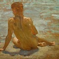 Sketch Of Nude Youth Study For Morning Spelendour by Henry Scott Tuke