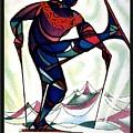 Ski Colorado, United States - Colorado Winter Sports - Retro Travel Poster - Vintage Poster by Studio Grafiikka