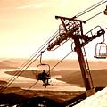 Ski Lift by Robert Bissett