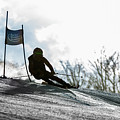 Ski Racer Backlit by Tim Kirchoff