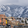 Ski Resort And Downtown Steamboat by Rich Reid