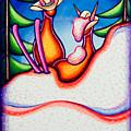 Skiing Kowboy Kats by Laurie Tietjen