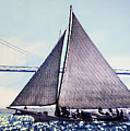 Skipjacks Racing Chesapeake Bay Maryland Contemporary Digital Art Work by G Linsenmayer