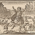 Skirmish In A Roman Circus by Edouard Eckman After Jacques Callot