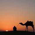 Skn 0870 Silhouette At Sunrise by Sunil Kapadia