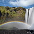 Skogafoss And Companion Rainbow by Rikk Flohr