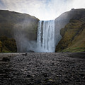 Skogafoss Waterfall In Iceland by James Udall
