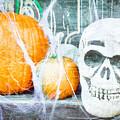 Skull And Pumpkin by Tom Gowanlock