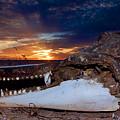 Skull Sunset by Britt Runyon