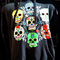 Skull T Shirts Day Of The Dead  by Chuck Kuhn