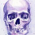 Purple Skull by Olga Shvartsur