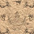 Skulls In Grunge Style by Michal Boubin