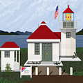 Skunk Bay Lighthouse by Anne Norskog