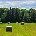 Sky Above The Hay Rolls Ae3 by Lyle Crump