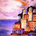 Sky At Dusk  by CarlinArt Watercolor