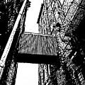 Sky Bridge - Black And White by Rob Blauser