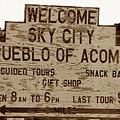 Sky City Sign by David Lee Thompson
