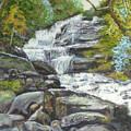 Sky Valley Waterfall by Gloria Smith