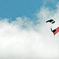 Skydiving Patriotism by Sabrina Wheeler