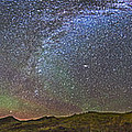 Skygazer Standing Under The Stars by Alan Dyer