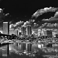 Skyline Along The River by Tim Wilson