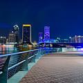 skyline and river coast scenes in Jacksonville Florida by Alex Grichenko