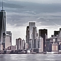 Skyline Manhattan Gray by Lutz Baar