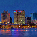Skyline Norfolk Virginia by Jerry Gammon