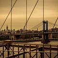 Skyline Ny From Brooklyn Bridge by Franz Zarda
