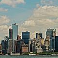 Skyline Of New York City - Lower Manhattan by David Oppenheimer