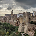 Skyline Of Pitigliano by Usha Peddamatham
