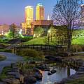 Skyline Of Tulsa Oklahoma At Dusk by Gregory Ballos