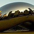 Skyline Reflection On Cloud Gate - Chicago -  by Miranda  Miranda